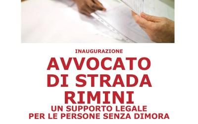 """Nasce """"AVVOCATO DI STRADA RIMINI"""", tutela legale gratuita per le persone senza dimora"""
