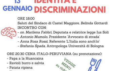 """13.01.18. Castel Maggiore: """"Cittadinanze, Identità e discriminazioni"""""""