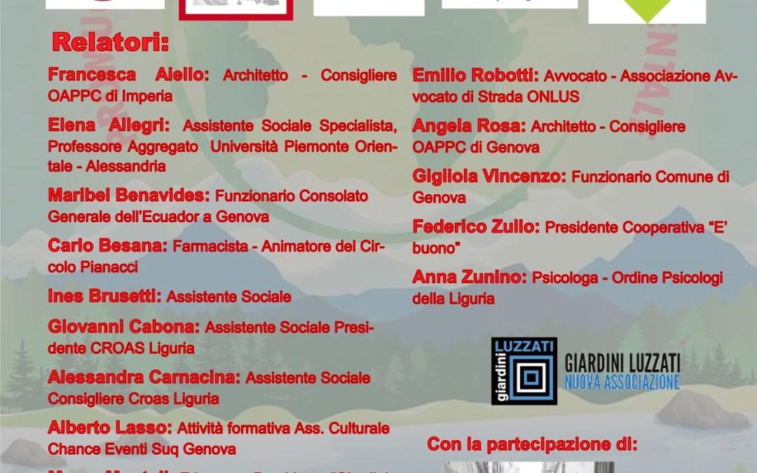 """20.03.18, Genova: """"Liguria laboratorio di esperienze, buone pratiche, innovazioni"""""""