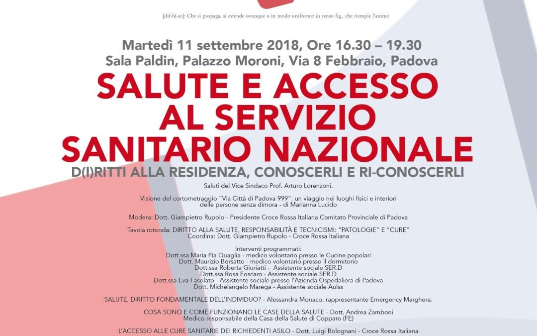 """11.09.18, Padova: """"Salute e accesso al Servizio Sanitario Nazionale"""""""