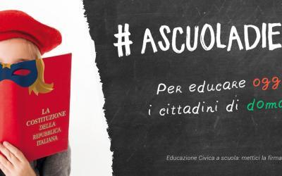 #ASCUOLADIEROI. Campagna per reintrodurre l'educazione civica nelle scuole