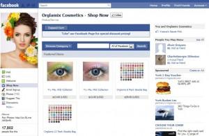 Orglamix Cosmetics Facebook store