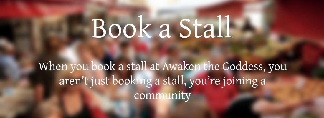 Book a stall at Awaken the Goddess