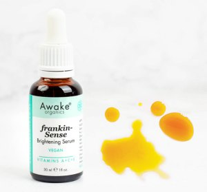 top 10 oils and butters for skin | frankincense brightening | natural vegan face serum | UK | cruelty free | paraben free | dry | mature skin | awake organics | natural skin care brand UK | second image