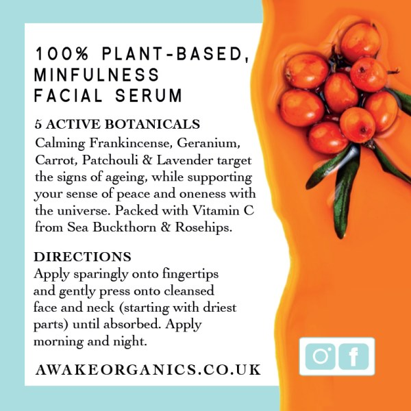 Frankincense Rejuvenating Organic Face Serum. Made with anti anxiety, calming, soothing, mood-boosting essential oils that help you feel better. Anti-ageing, for younger looking Skin. Pure and natural. Made with Frankincense, Cannabis (Hemp), Seabuckthorn, Rosehip, Camellia Tea, Carrot Seed. Consciously Made in England.
