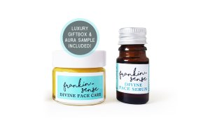 Mini, Sample, Gift, travel size. Frankin-Sense Rejuvenating Organic Face Serum + Cream. Aluminium free Natural Deodorant. Dead Sea Mud Detox Face Mask. Made with natural anti anxiety, antidepressant essential oils. Anti-ageing moisturiser, for younger looking Skin. Pure and natural. Made with Babassu Kernel, Frankincense face cream, Hemp, Seabuckthorn, Rosehip, Camellia Tea, Carrot Seed. Consciously Made in England.