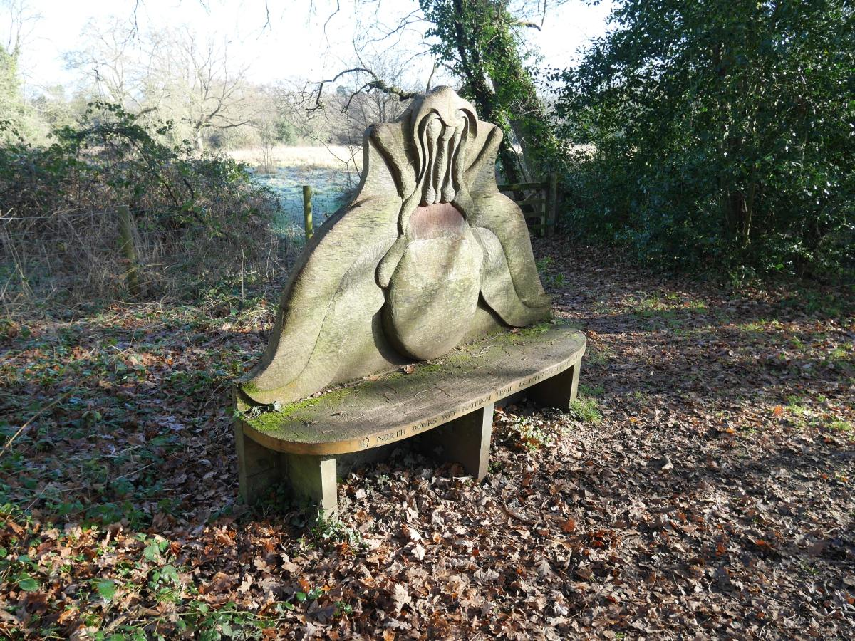 The North Downs way seat