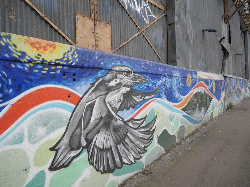 Brentford Canal Mural