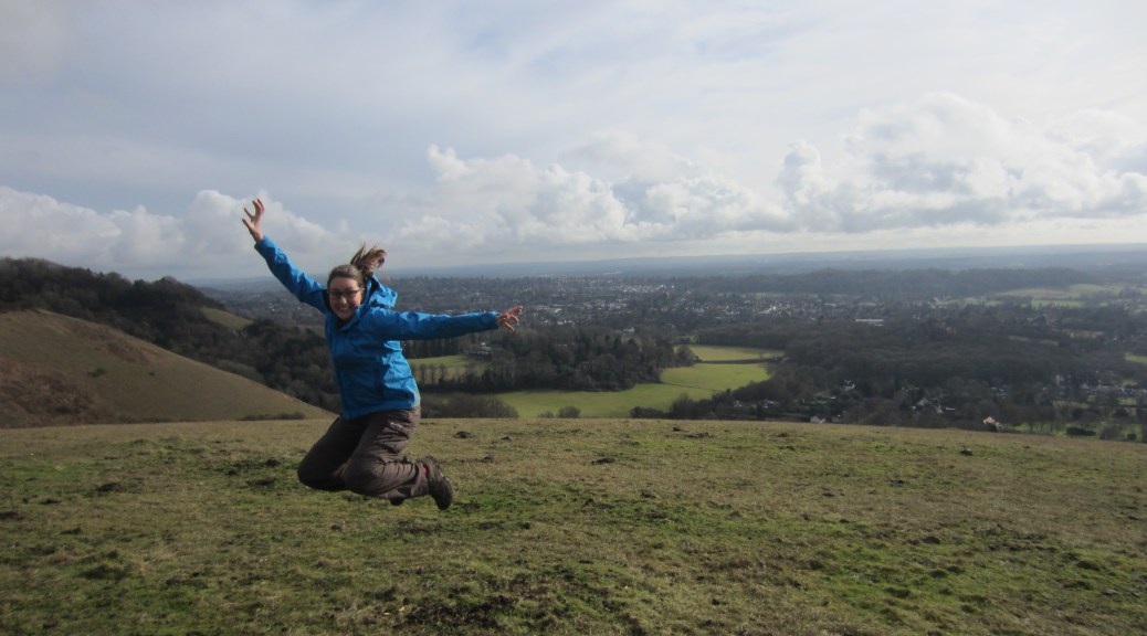 Jumping on Colley Hill