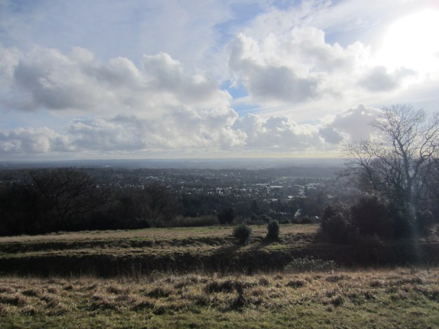 The view from Reigate fort