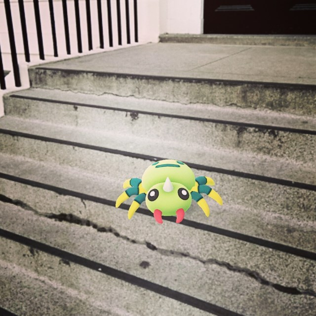 Eep! spider steps!