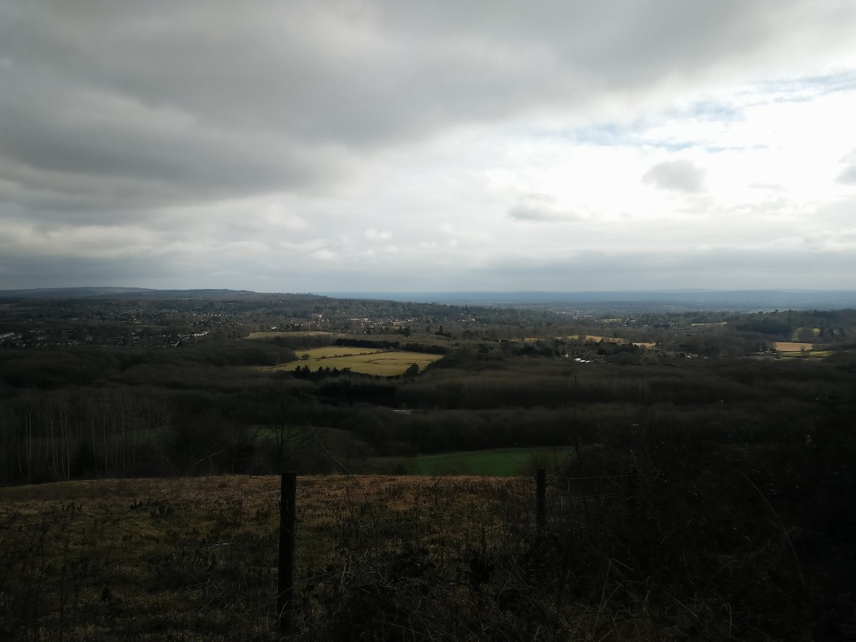 The view from Tandridge Hill