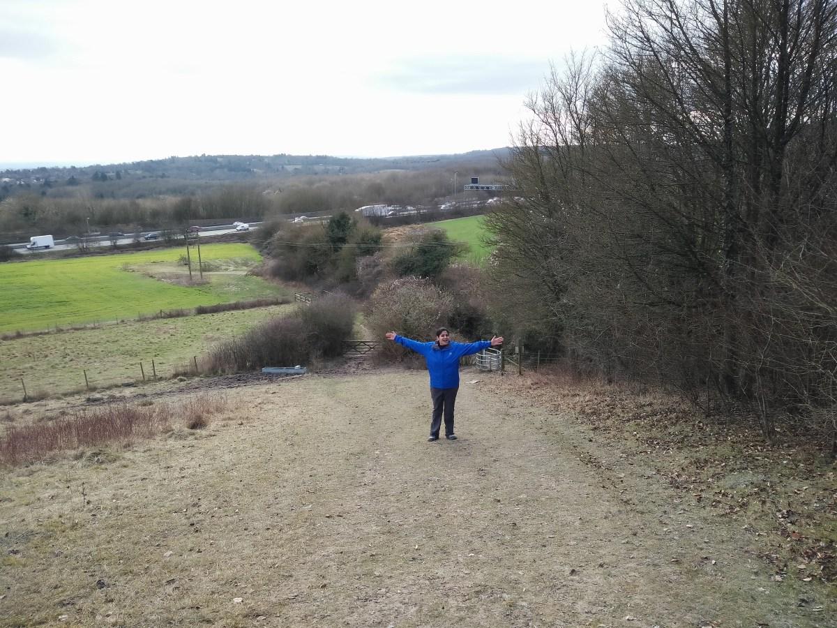 Ashwini on the hill!