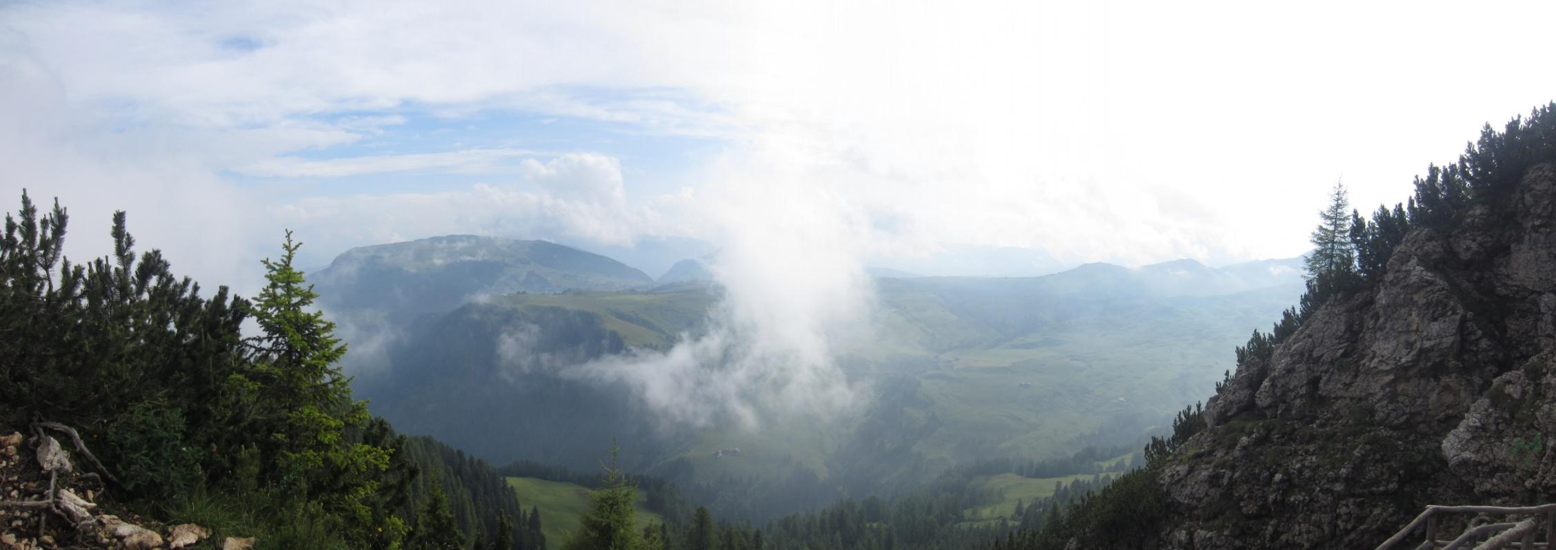 Misty view Schlern/Sciliar