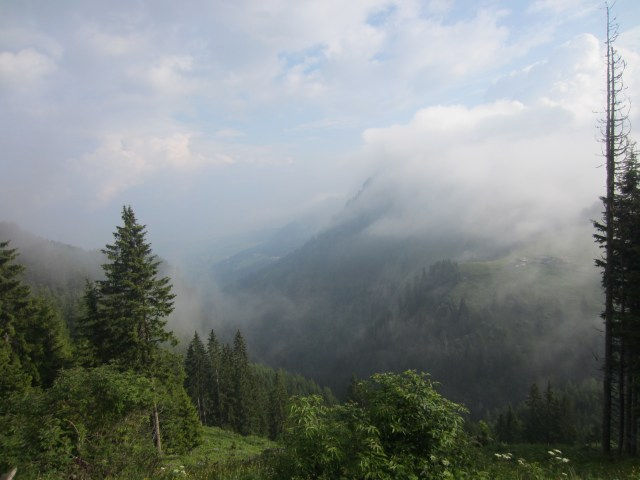 View of clouds over Mount Bulacia/ Puflatsch from Schlern/Sciliar