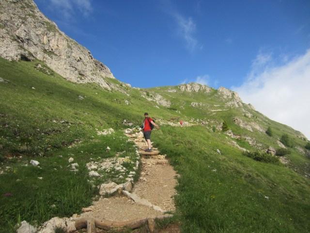 Nearly to the ridge!