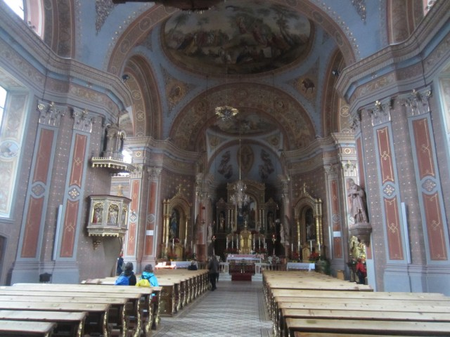 Inside the church in St Ulrich / Ortisei