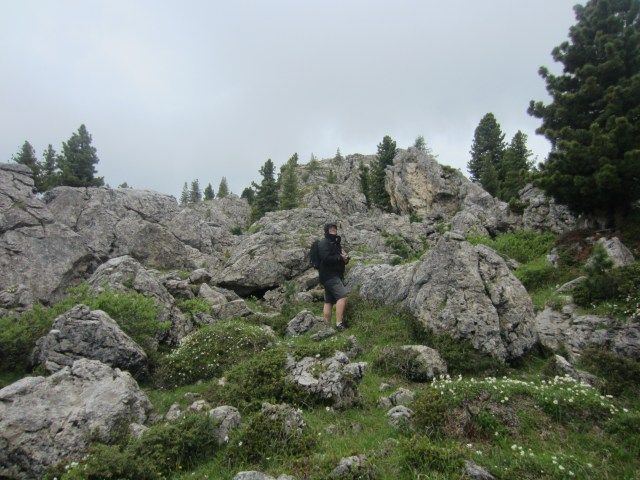 Walking through the boulders