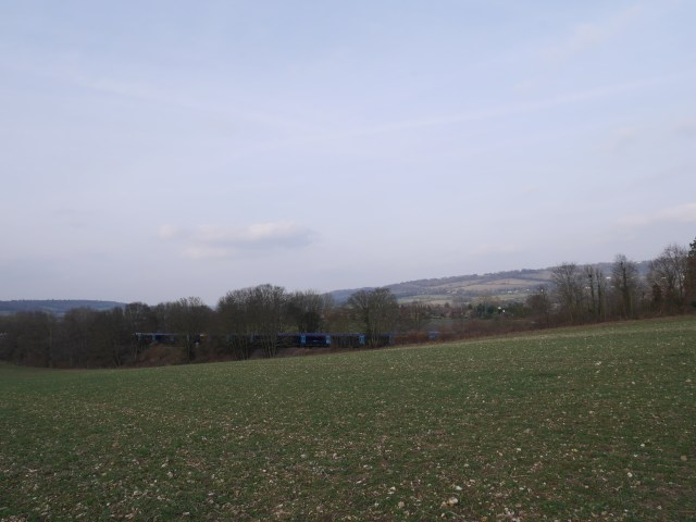 Trains and flinty fields