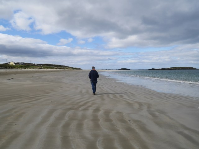 Dad on Glassilaun beach