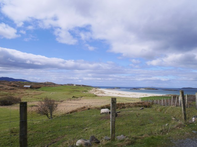 Glassilaun beach from the road