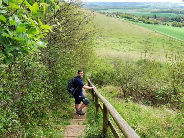 Steps down near White Horse wood
