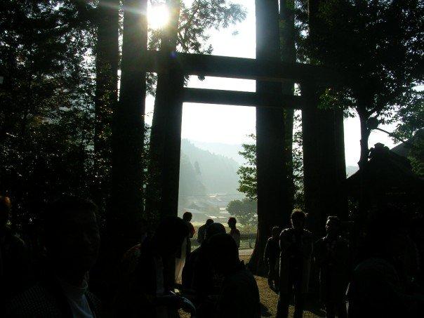 Enter the shrine in the morning light