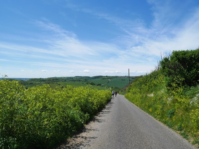 This quiet road is where i saw the pensioner with the amazing bike!