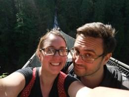 We're on Capilano Suspension bridge