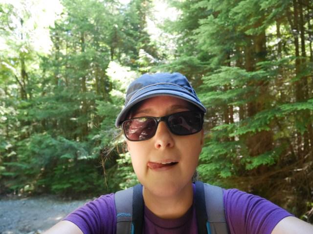 Walking up Mount Gardner