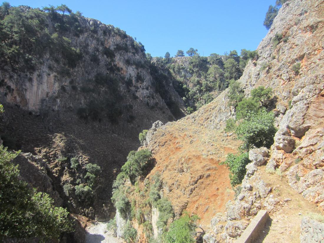 Aradena gorge from below