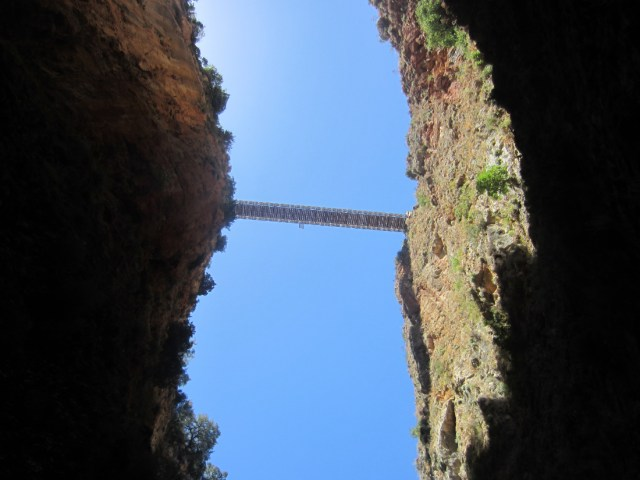 Aradena bridge from below