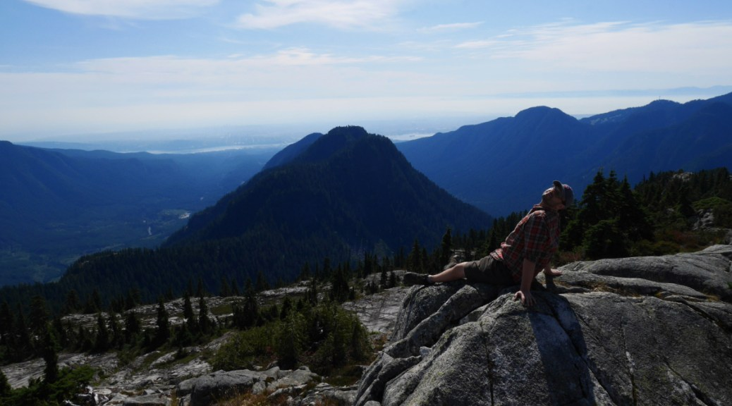 Enjoying the views of Vancouver;s North Shore