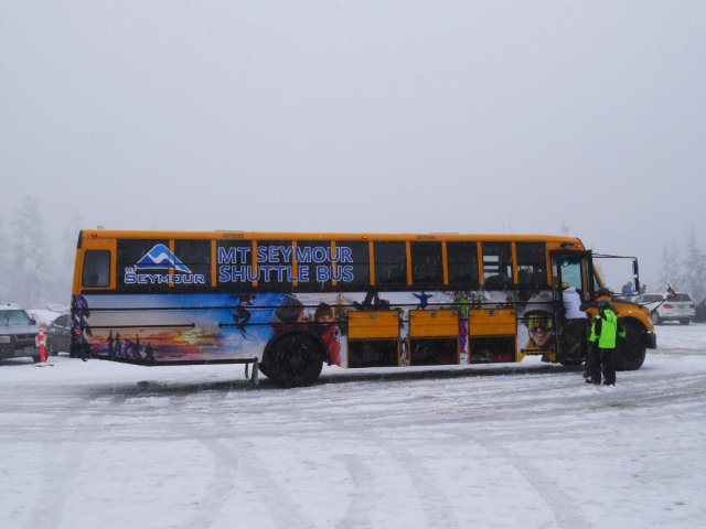 Mount Seymour shuttle bus