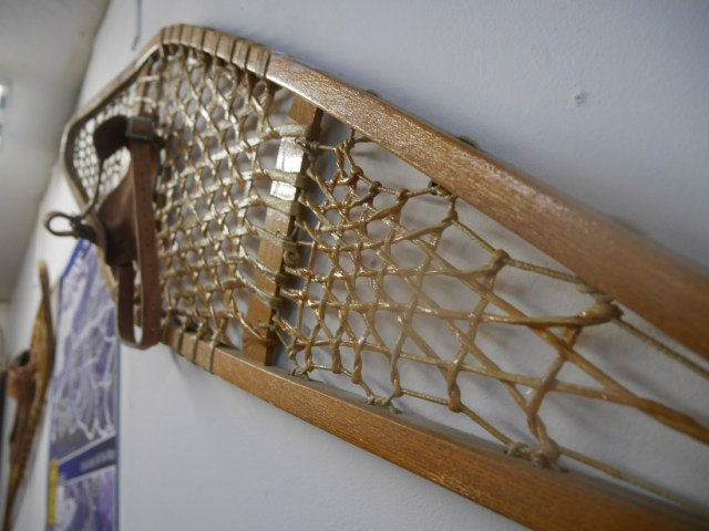 Old-style snowshoes
