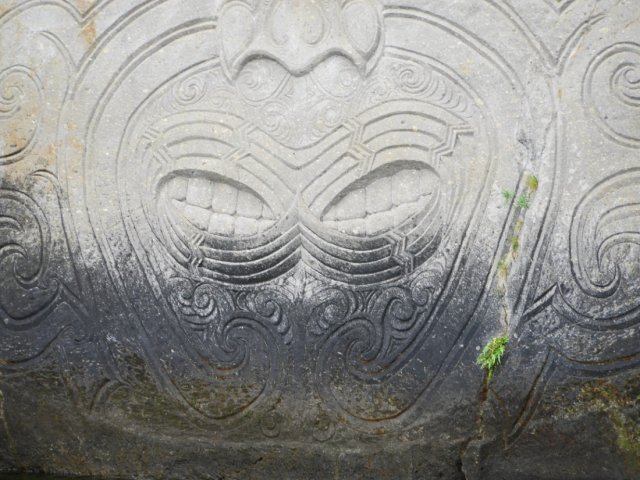 Marori Carvings near Lake Taupo mouths