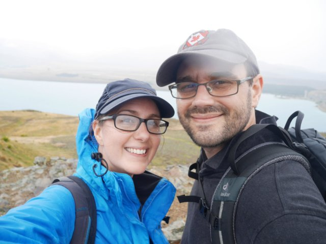 Selfie at the top of Mount John