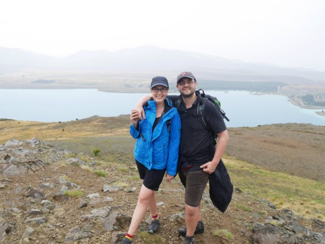 Piccy at the top of Mount John