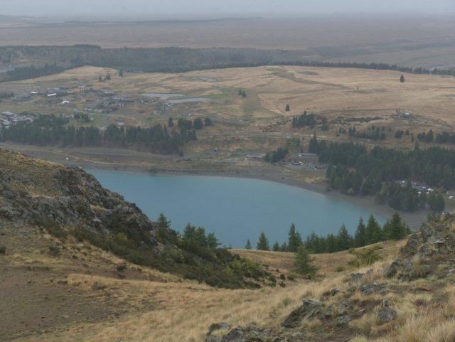 Lake teakpo from Mount John