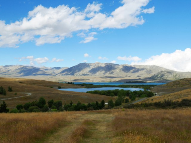 Lake McGregor with Lake Tekapo in the background