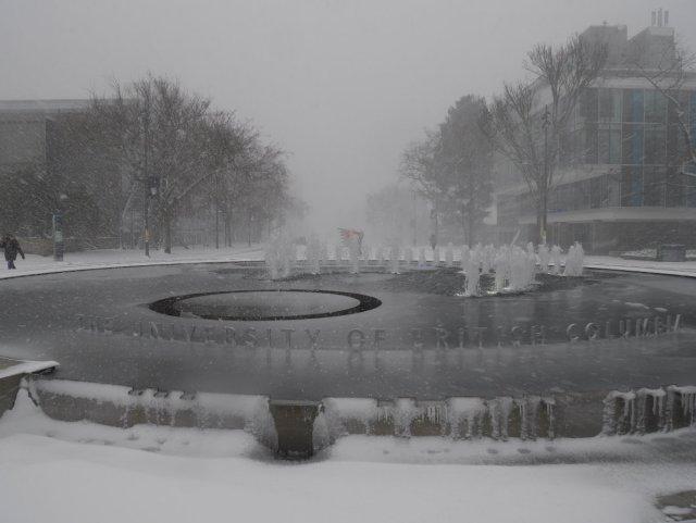 UBC in the snow
