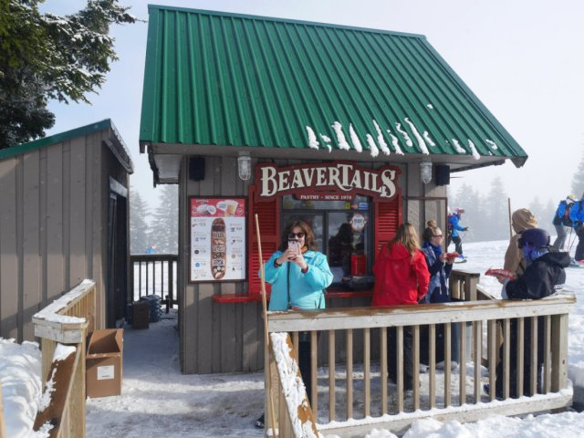 Beavertails in the snow