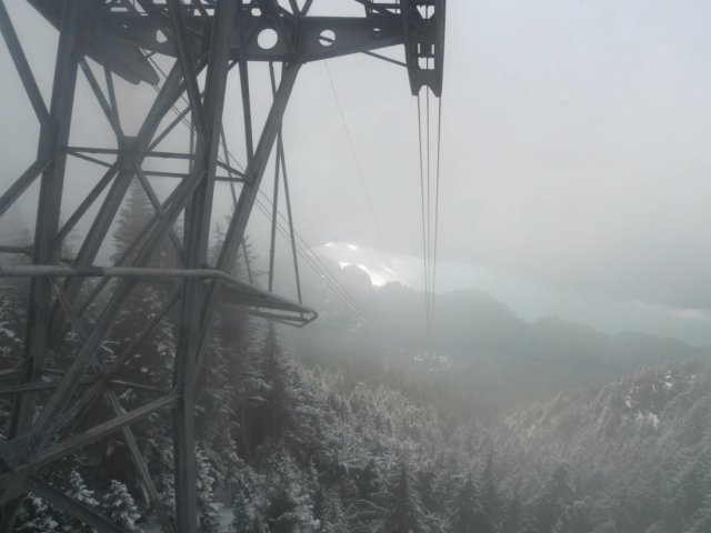 View from Grouse Mountain skyride