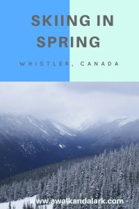 Skiing in spring - Whistler Blackcomb