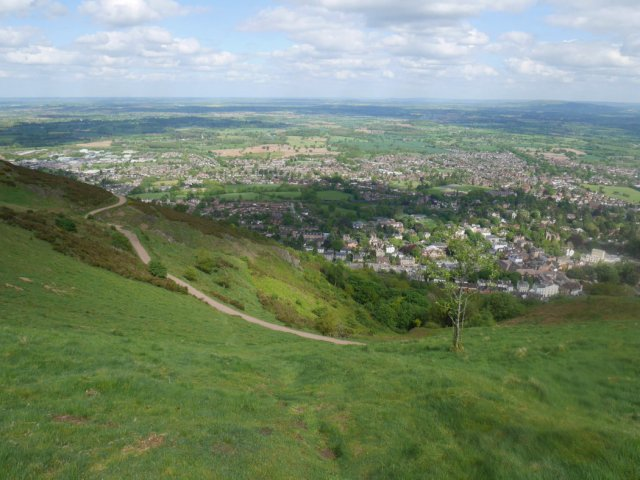 Steep Malvern descent
