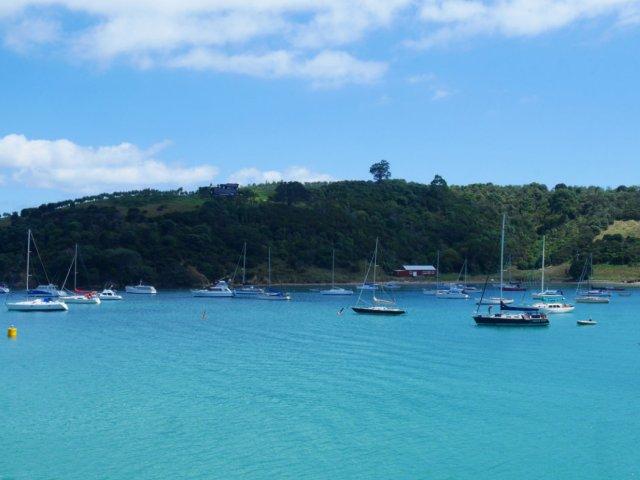 Blue waters off Waiheke Island