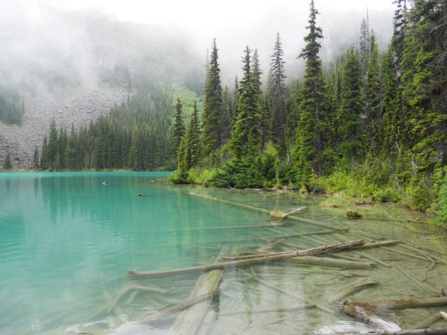 Our first fiew of Middle Joffre Lake