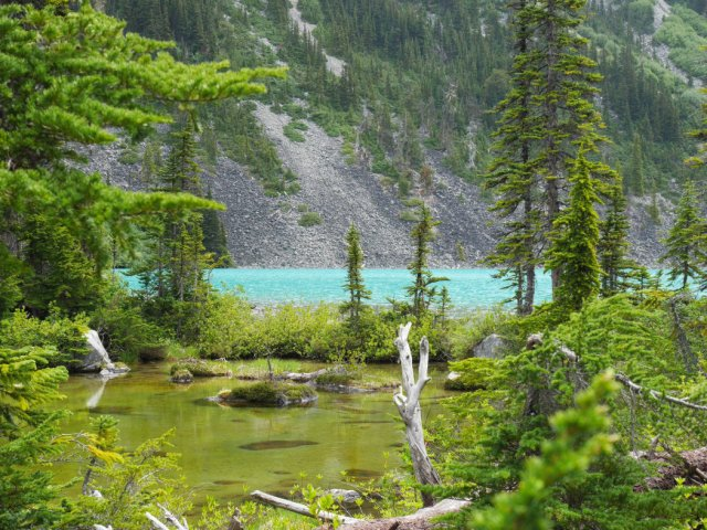First view of Upper Joffre Lake