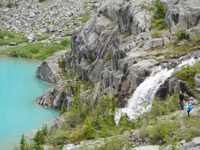 Waterfall at Upper Joffre Lake