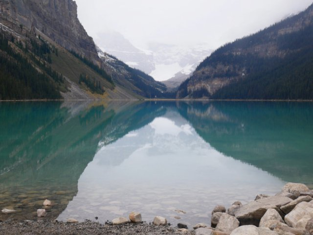 First view of Lake Louise